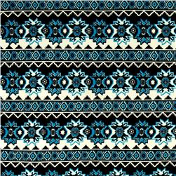 Aztec Hatchi Sweater Knit Turquoise/Black