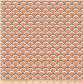 Riley Blake Lula Magnolia Scallop Orange