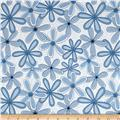 "Basically Wide 108"" Quilt Back Floral Blue"