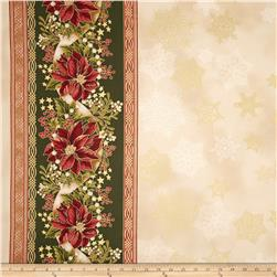 Robert Kaufman Holiday Flourish Metallic 57 In. Wide Double Border Country