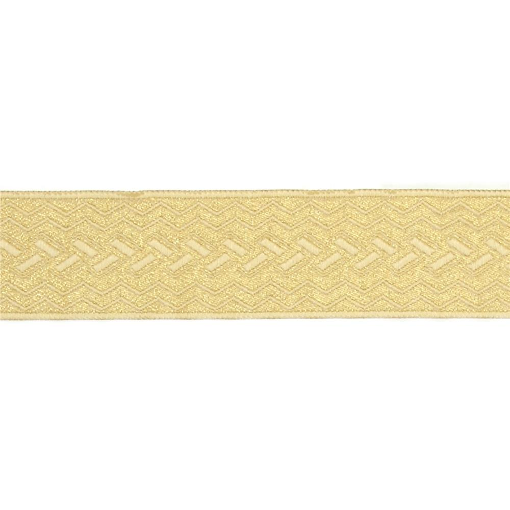 "1 1/2"" Woven Home Decor Geometric Trim Gold"