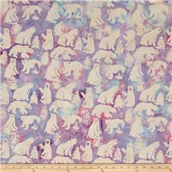 Island Batik Bear Beige/Blue/Purple
