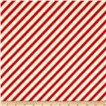 Rudolph 50 Years Diagonal Stripe White/Red