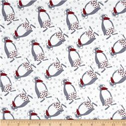 Cotton Jersey Knit Wacky Penguin