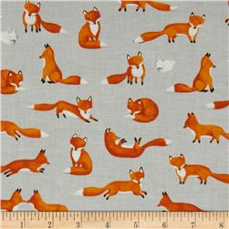 Moda Forest Friends Fox Fun Pebble Grey