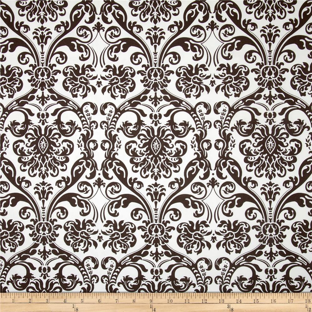 Premier Prints Abigail Chocolate/White
