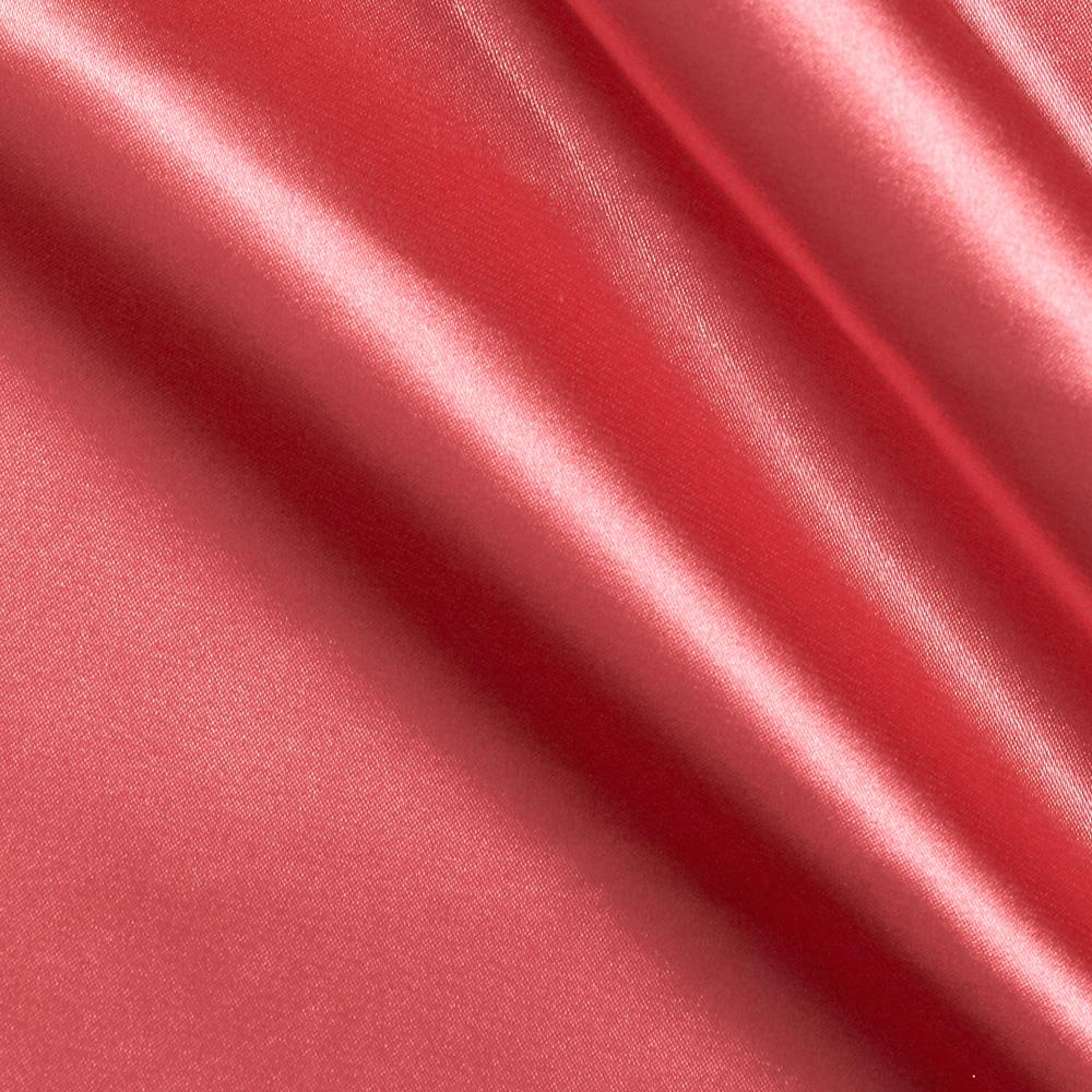Stretch charmeuse satin coral pink discount designer for Satin fabric