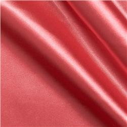 Stretch Charmeuse Satin Coral Pink