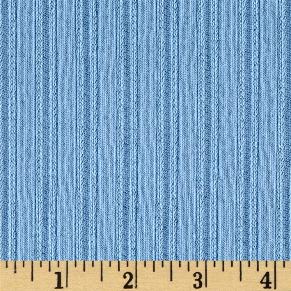 Poor Boy Rib Knit Cerulean