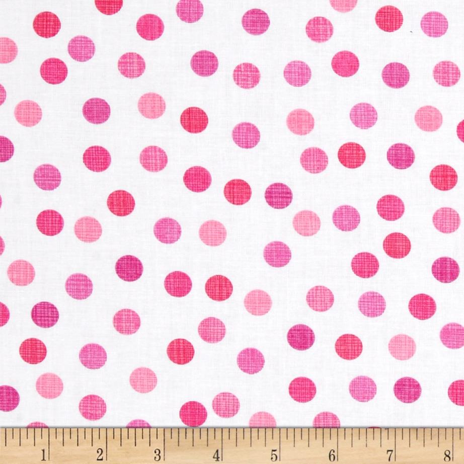 Timeless Treasures Dots Pink Sweet