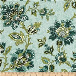 Palm Court Large Floral Aqua