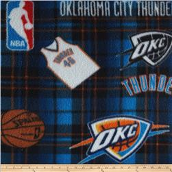 NBA Fleece Oklahoma City Thunder Blue Fabric