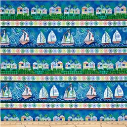 Dream Boats Stripe Blue