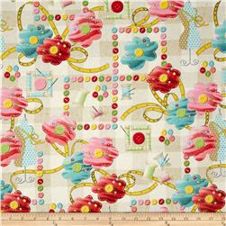 Sew What Large Patch Cream Fabric