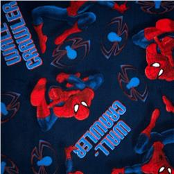 Spiderman Fleece Wall Crawler Blue