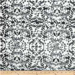 Paola Pique Knit Abstract Vines White/Black