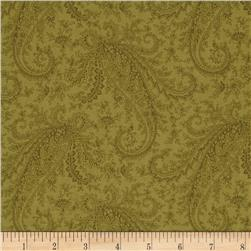 M For Mystery Large Tonal Paisley Green