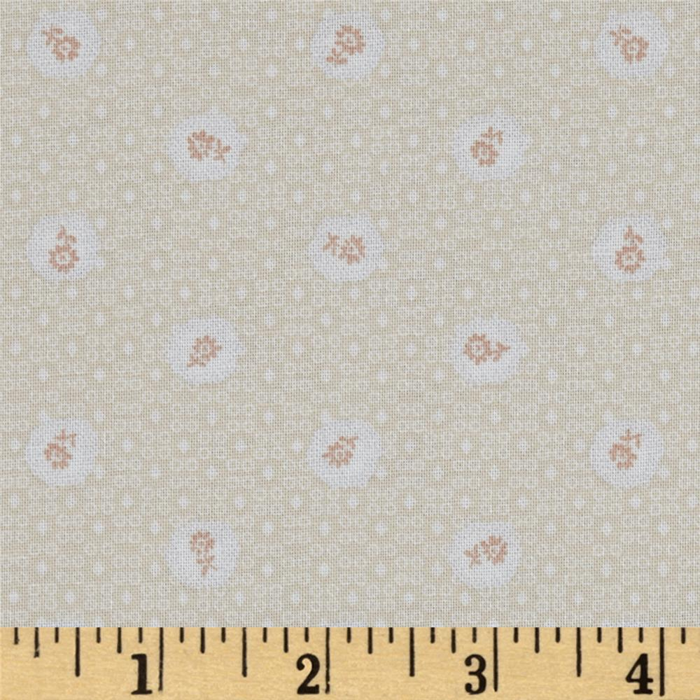 Lecien Kate Greenaway Coordinates Mini Medallion Light Pink