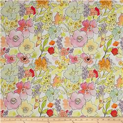Happy Meadows Digital Print Floral White