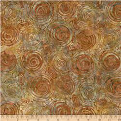 Indonesian Batiks Circles Bronze