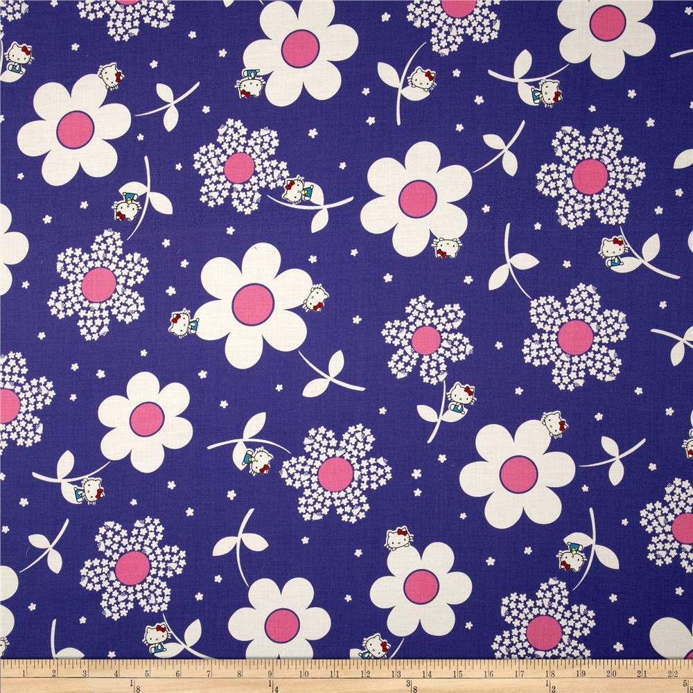 Hello Kitty Giant Daisies Blue