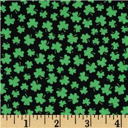 Timeless Treasures Mini Shamrocks Green