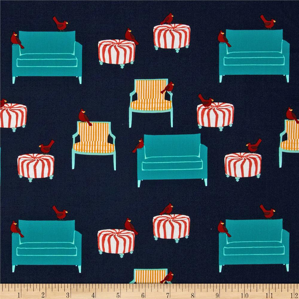 Holiday Sweet Tweets Scattered Furniture Retro Black