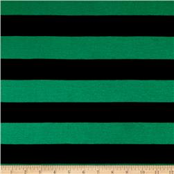 Yarn Dyed Jersey Knit Stripe Shamrock/Black