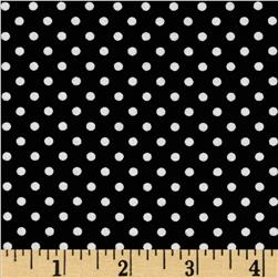 Moda Dottie Small Dots Jet Black
