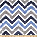Chevrons & Zigzags Cuddle Navy/Denim/Ivory
