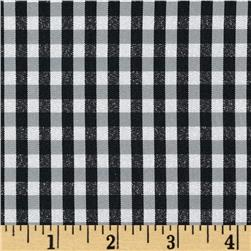 "Taffeta 1/4"" Check Silver/Black/White"