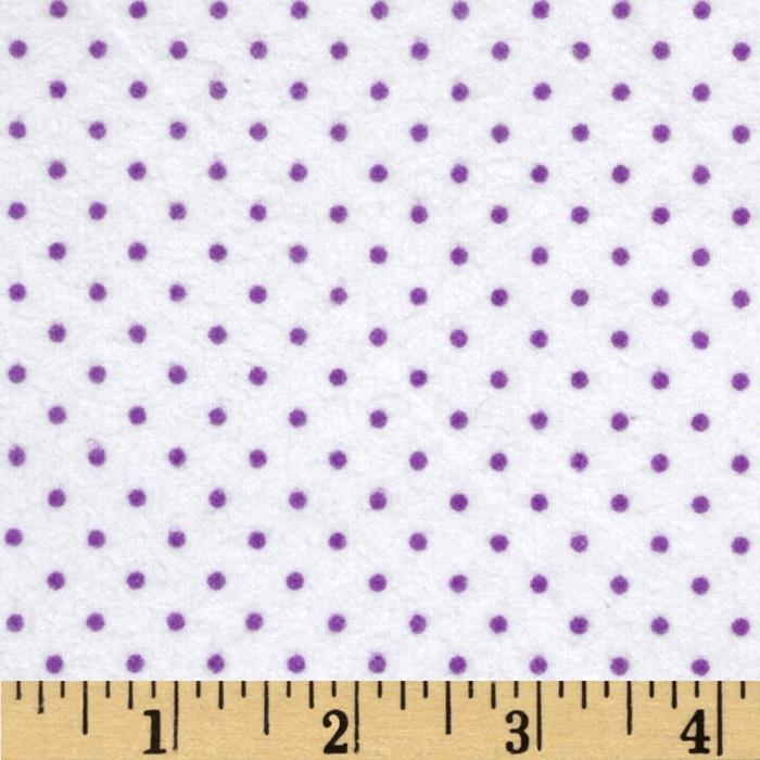 Cuddle Me Basics Flannel Small Dot Lilac