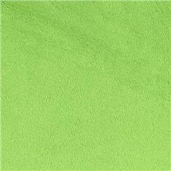 Shannon Minky Solid Cuddle 3 Dark Lime