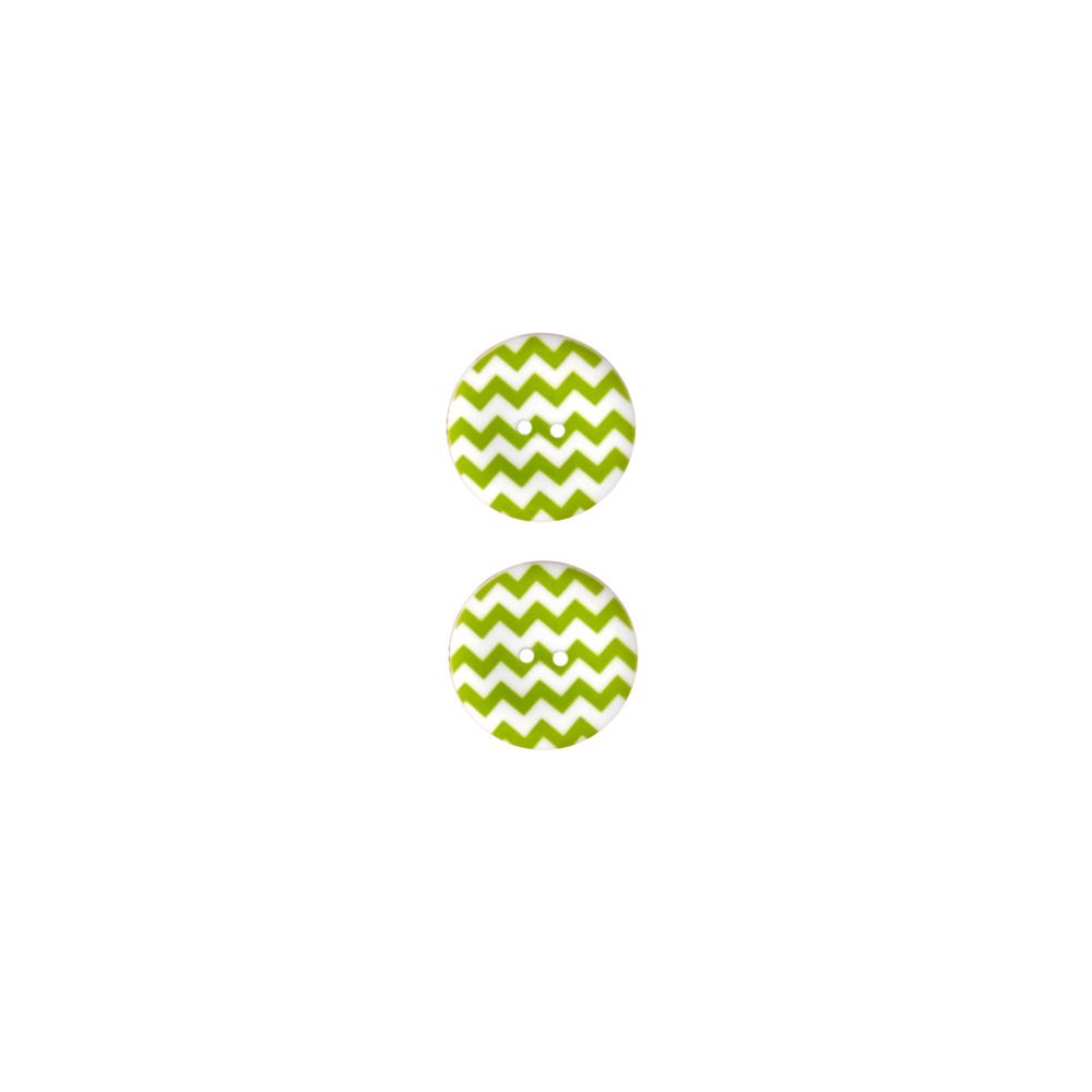 Riley Blake Sew Together 1 1/2 Matte Button Chevron Lime