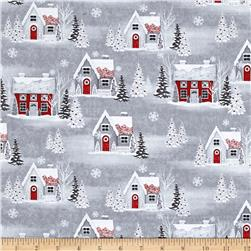 Holiday Homecoming Houses Gray