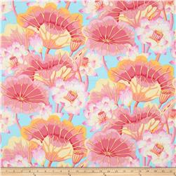 Kaffe Fassett Collective Lake Blossoms Pink Fabric