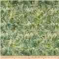 Artisan Batiks: Totally Tropical 2 Ferns Caribbean Green