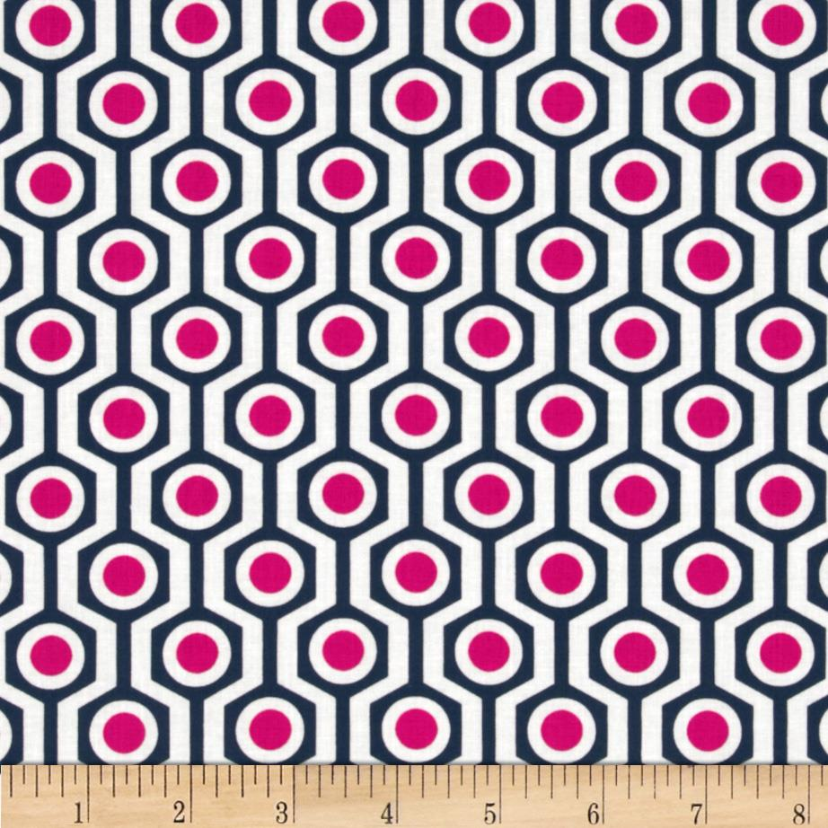In the Navy Hexagon Navy/Pink