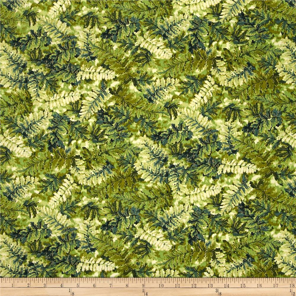Falls Canvas Medium Leaves Green/Dark Green