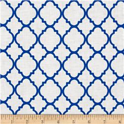 Quatrefoil White/Royal