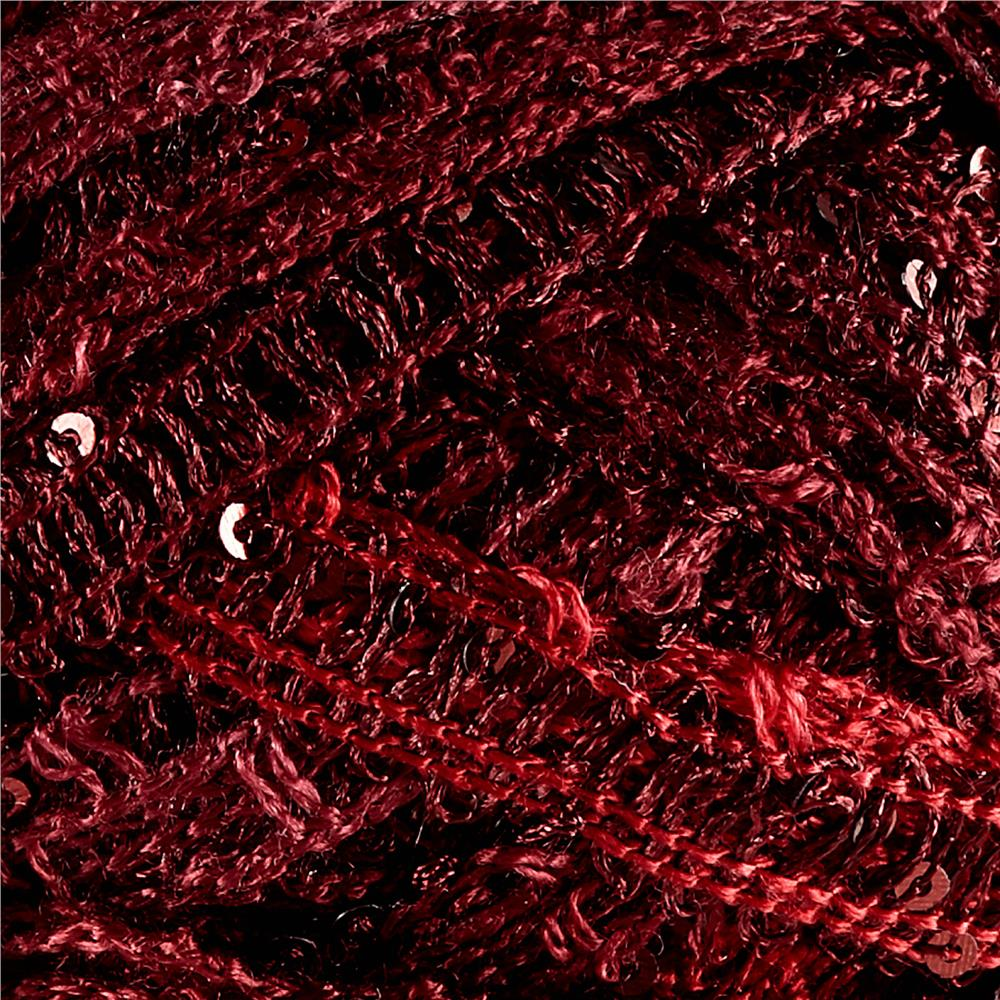 Red Heart Boutique Sashay Sequins Yarn Cabernet