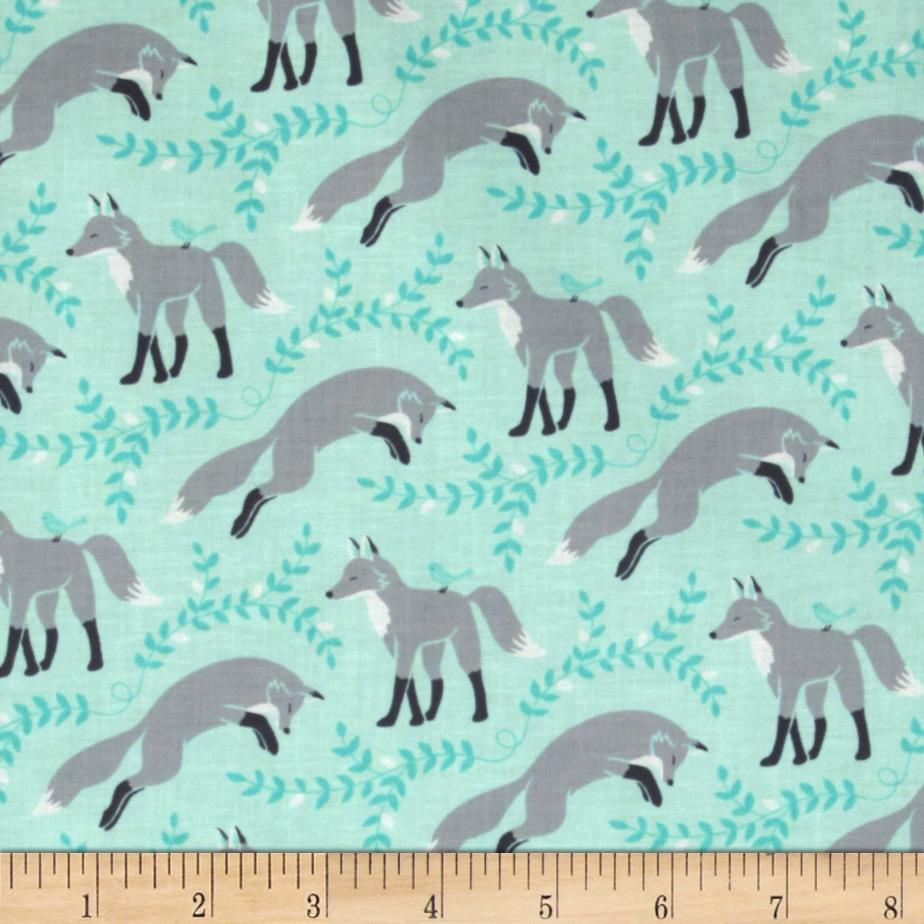 Michael Miller Socks The Fox Aqua