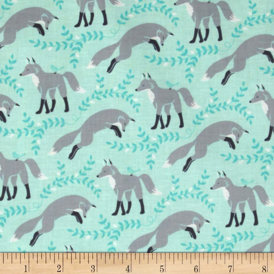 Michael Miller Les Amis Socks The Fox Aqua