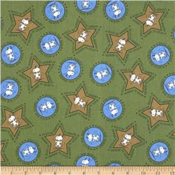 Peanuts Hugs for Heroes Snoopy Stars/Circles Olive