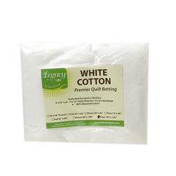 "Pellon White Cotton Batting King 120"" X 120"""