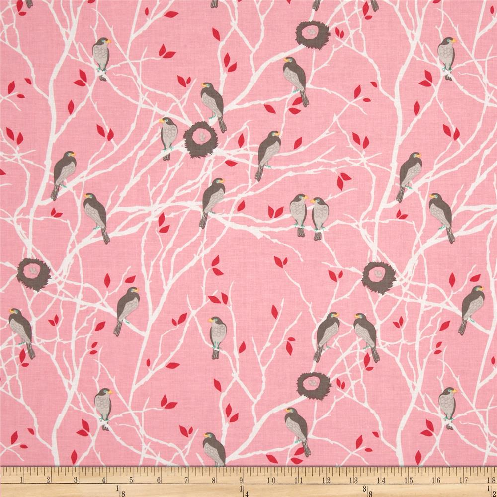 Riley Blake The Cottage Garden Birds Pink
