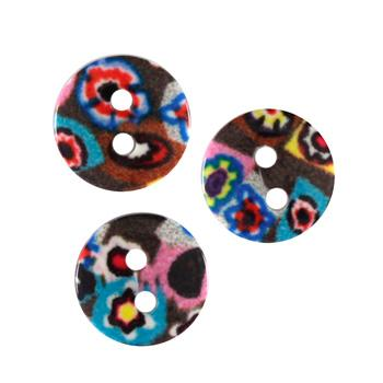Novelty Buttons 1/2' Tutti Multi