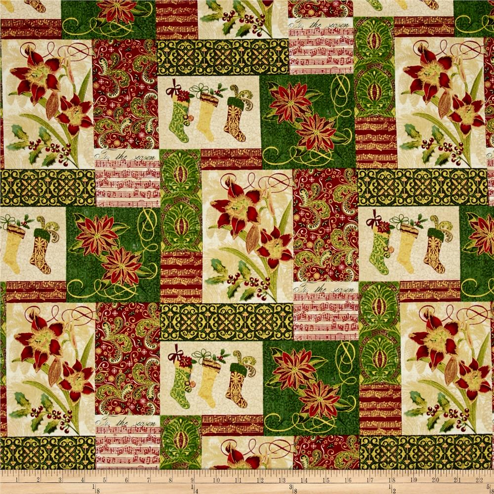 Tis The Season Patchwork Multi