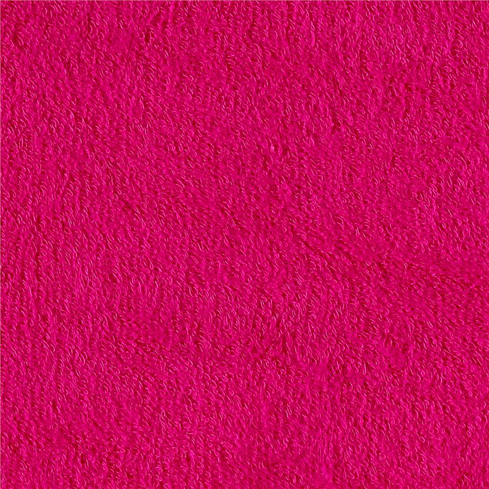Telio bamboo rayon terry cloth fuchsia discount designer for Fabric cloth material