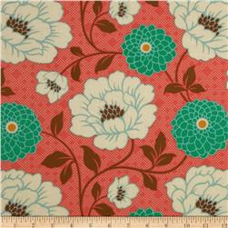 Joel Dewberry Bungalow Dahlia Coral Fabric